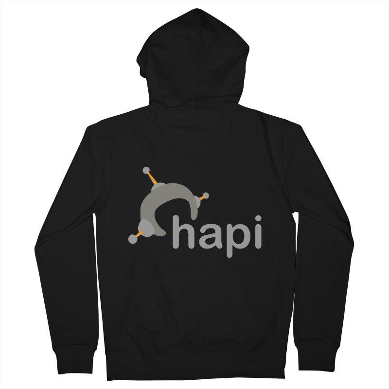 Logo (Dark) Women's French Terry Zip-Up Hoody by hapi.js
