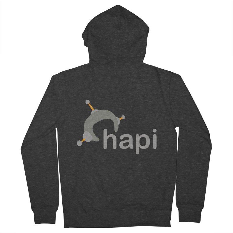 Logo (Dark) Men's French Terry Zip-Up Hoody by hapi.js