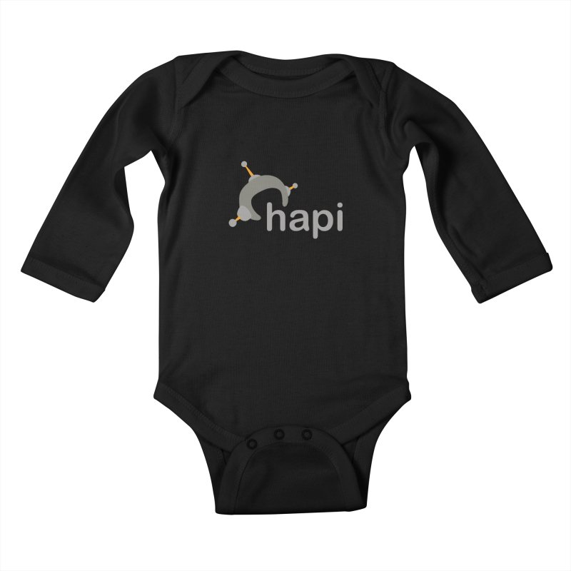 Logo (Dark) Kids Baby Longsleeve Bodysuit by hapi.js