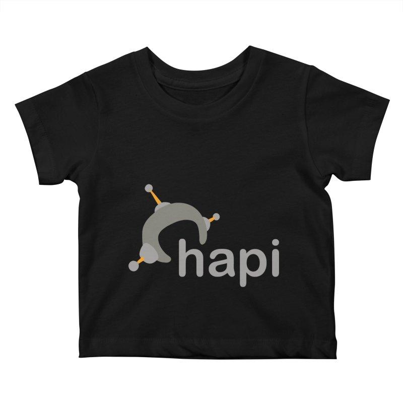 Logo (Dark) Kids Baby T-Shirt by hapi.js