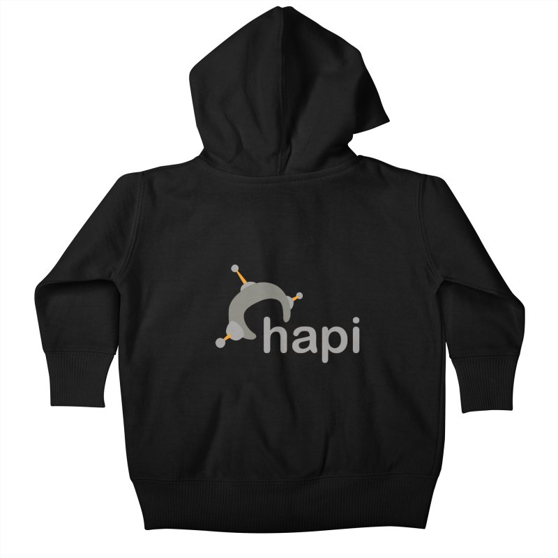 Logo (Dark) Kids Baby Zip-Up Hoody by hapi.js