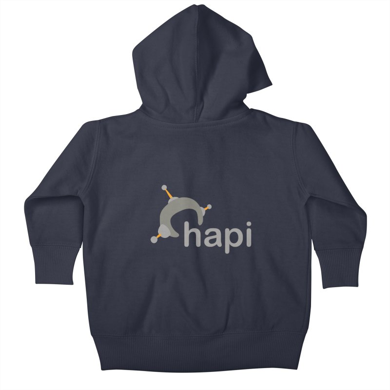 Logo (Dark) Kids Baby Zip-Up Hoody by hapi.js