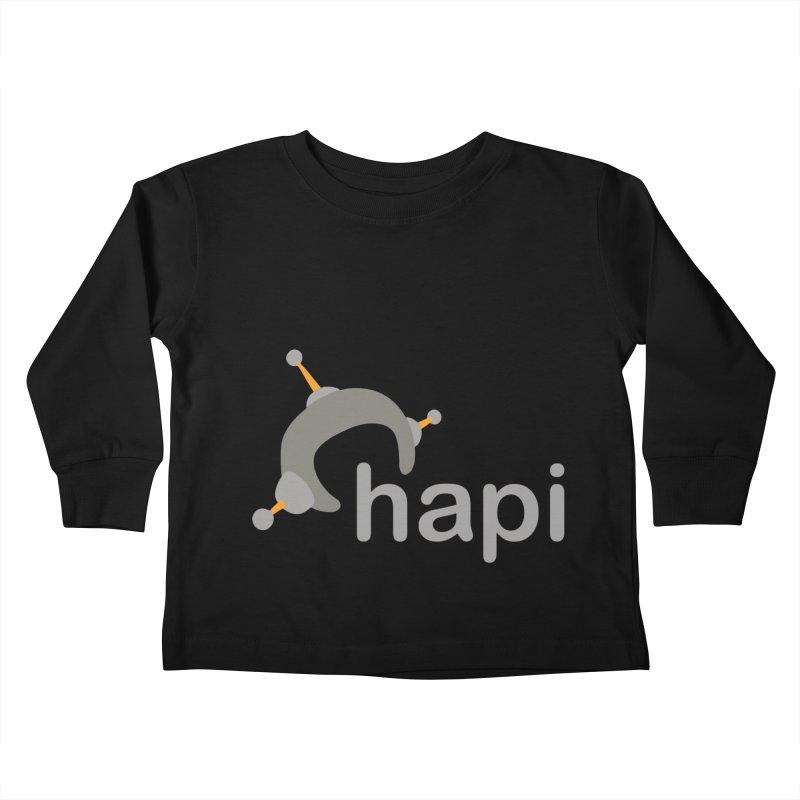 Logo (Dark) Kids Toddler Longsleeve T-Shirt by hapi.js