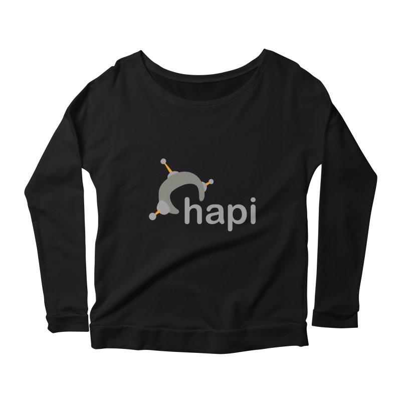 Logo (Dark) Women's Scoop Neck Longsleeve T-Shirt by hapi.js