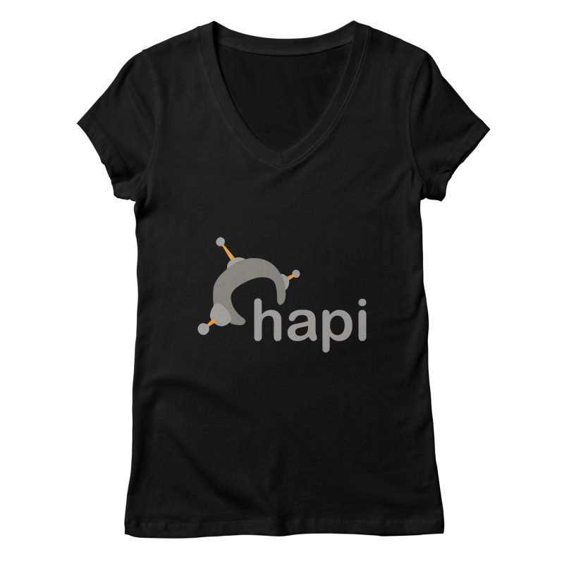 Logo (Dark) Women's Regular V-Neck by hapi.js