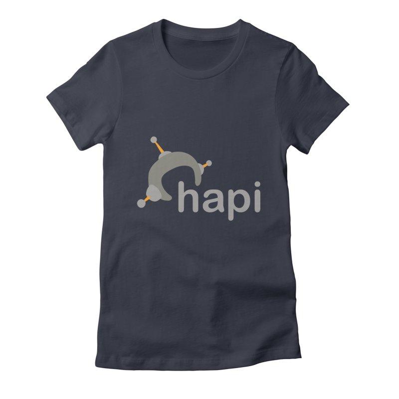 Logo (Dark) Women's Fitted T-Shirt by hapi.js