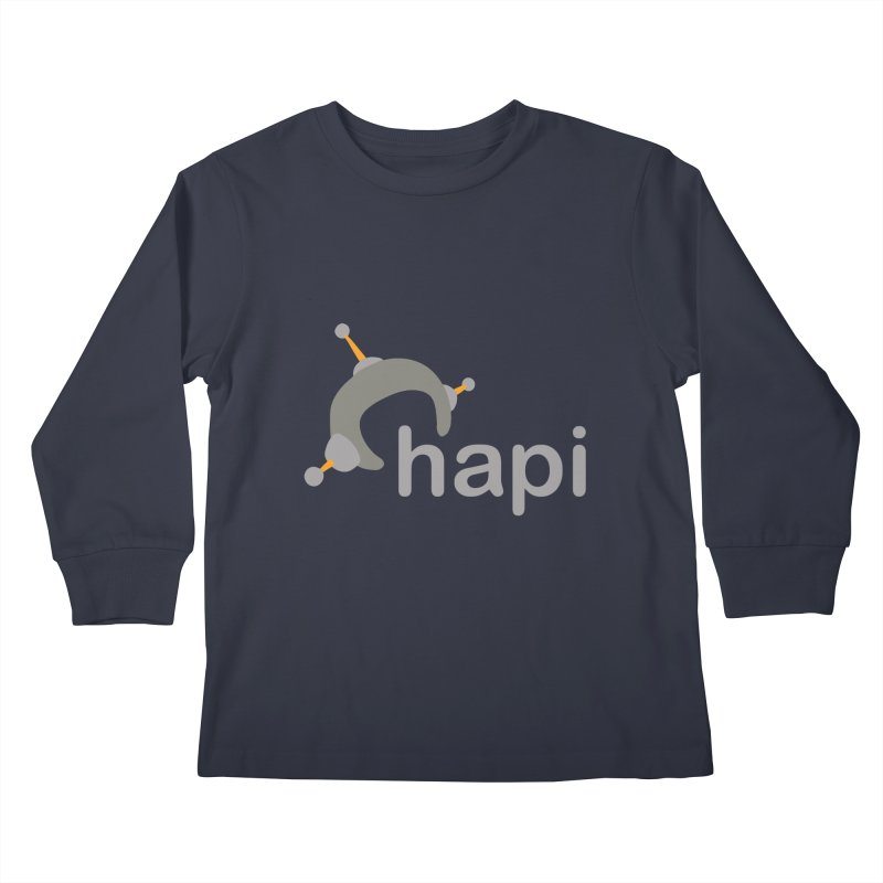 Logo (Dark) Kids Longsleeve T-Shirt by hapi.js