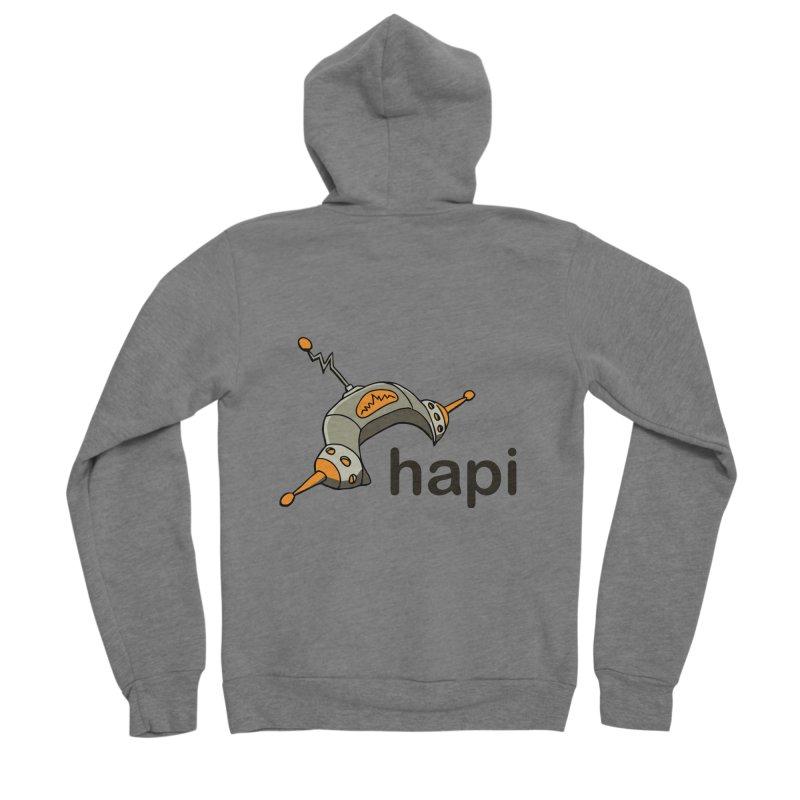 Old School Logo Men's Sponge Fleece Zip-Up Hoody by hapi.js