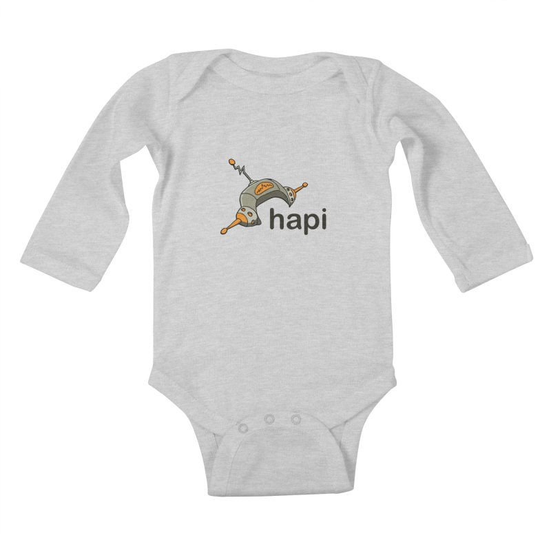 Old School Logo Kids Baby Longsleeve Bodysuit by hapi.js