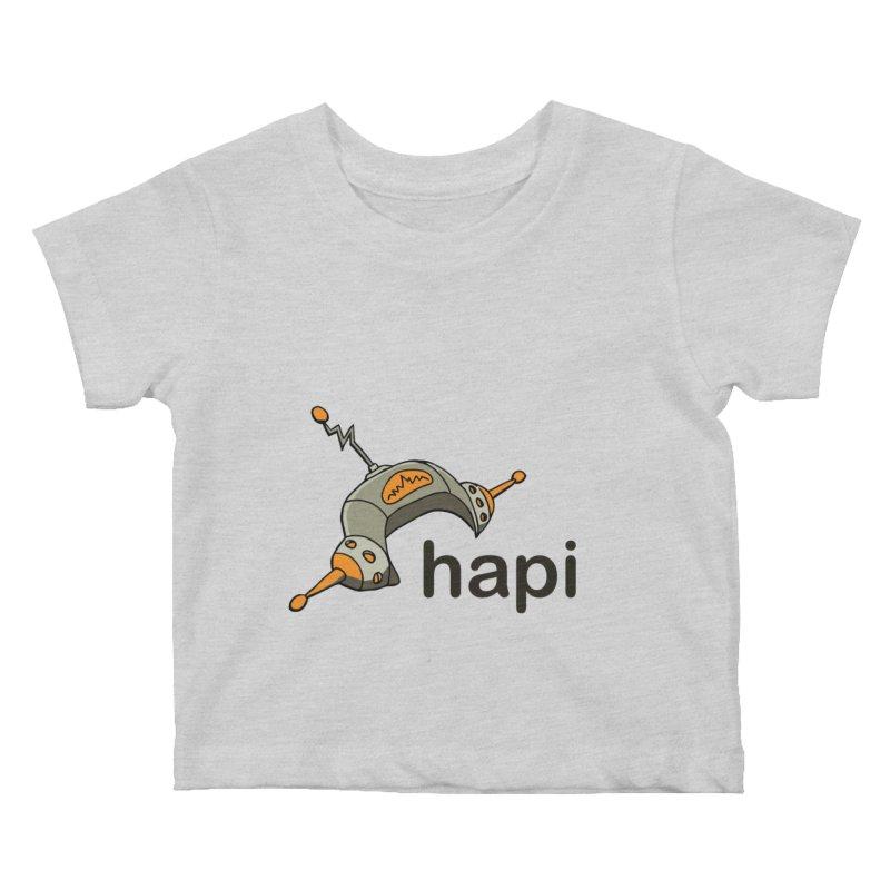 Old School Logo Kids Baby T-Shirt by hapi.js