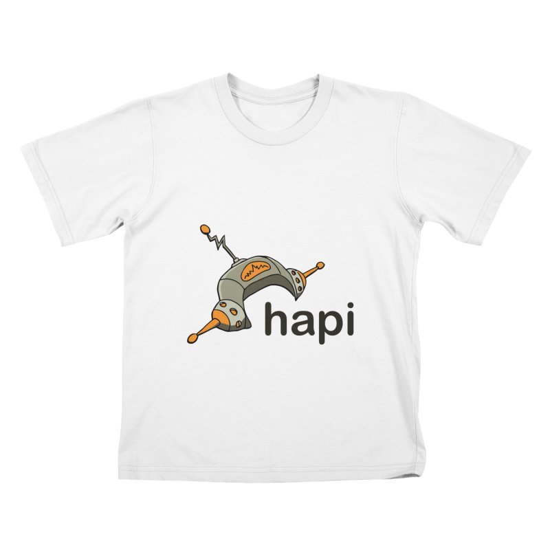 Old School Logo Kids T-Shirt by hapi.js