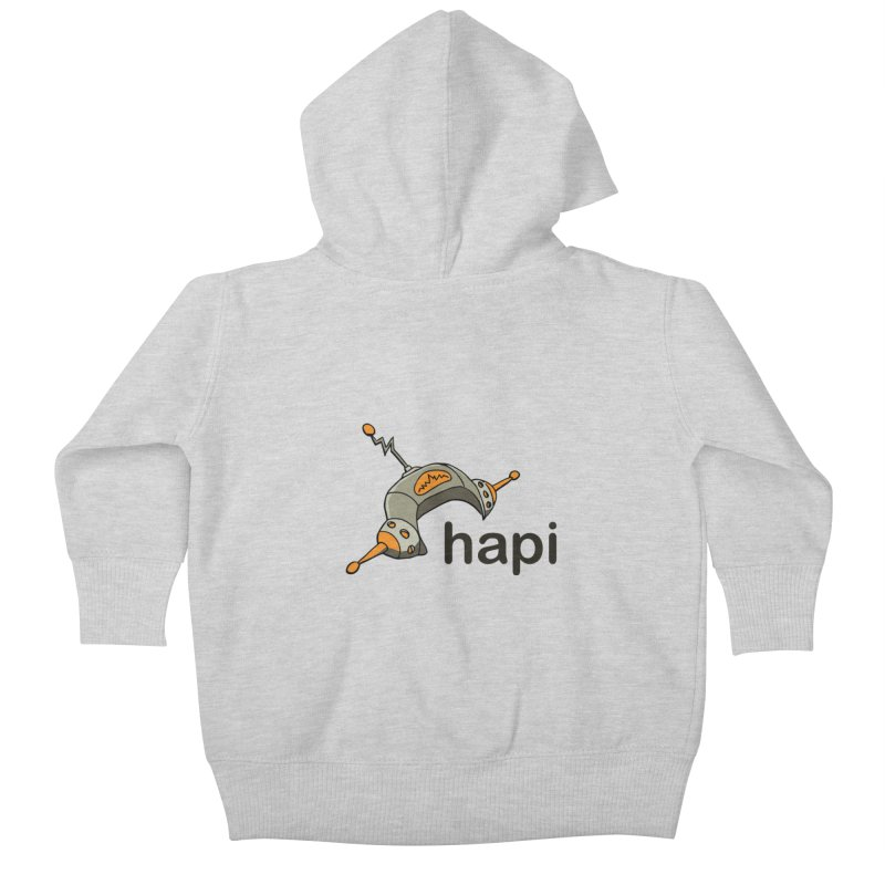 Old School Logo Kids Baby Zip-Up Hoody by hapi.js