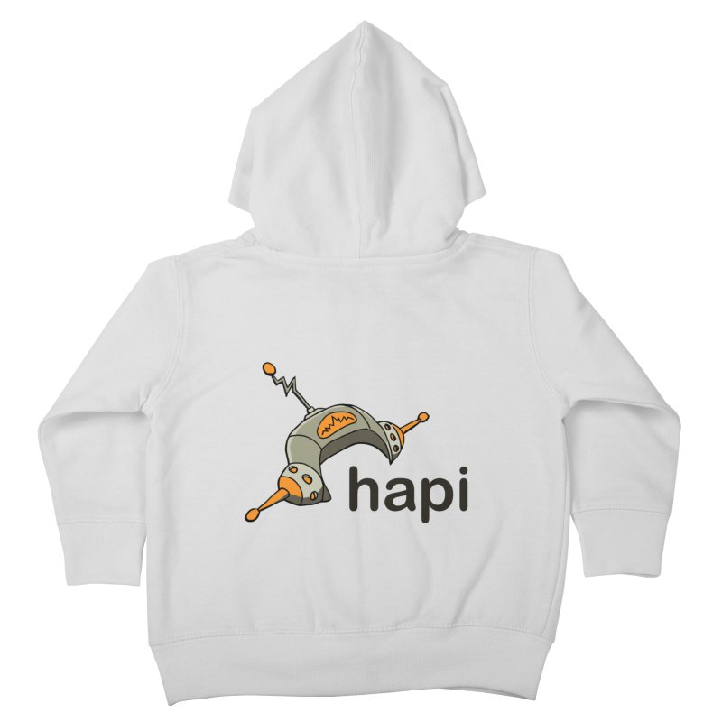 Old School Logo Kids Toddler Zip-Up Hoody by hapi.js