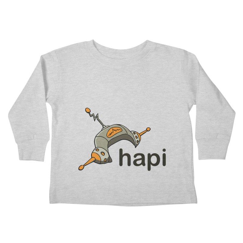 Old School Logo Kids Toddler Longsleeve T-Shirt by hapi.js