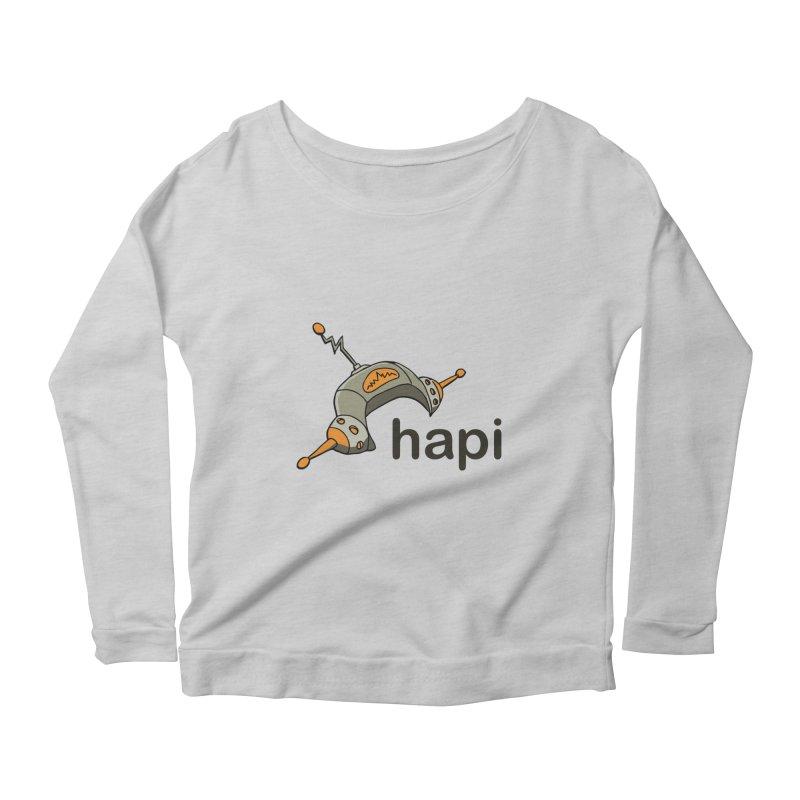 Old School Logo Women's Scoop Neck Longsleeve T-Shirt by hapi.js