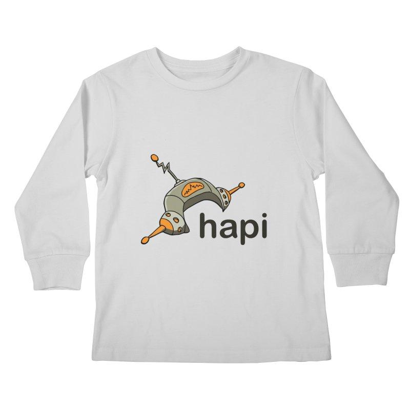 Old School Logo Kids Longsleeve T-Shirt by hapi.js
