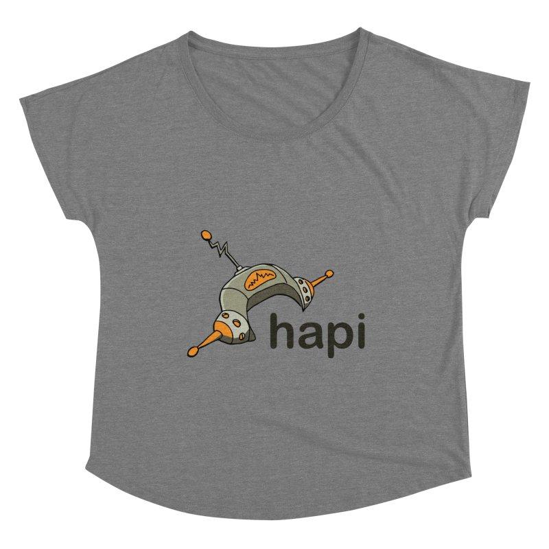 Old School Logo Women's Scoop Neck by hapi.js
