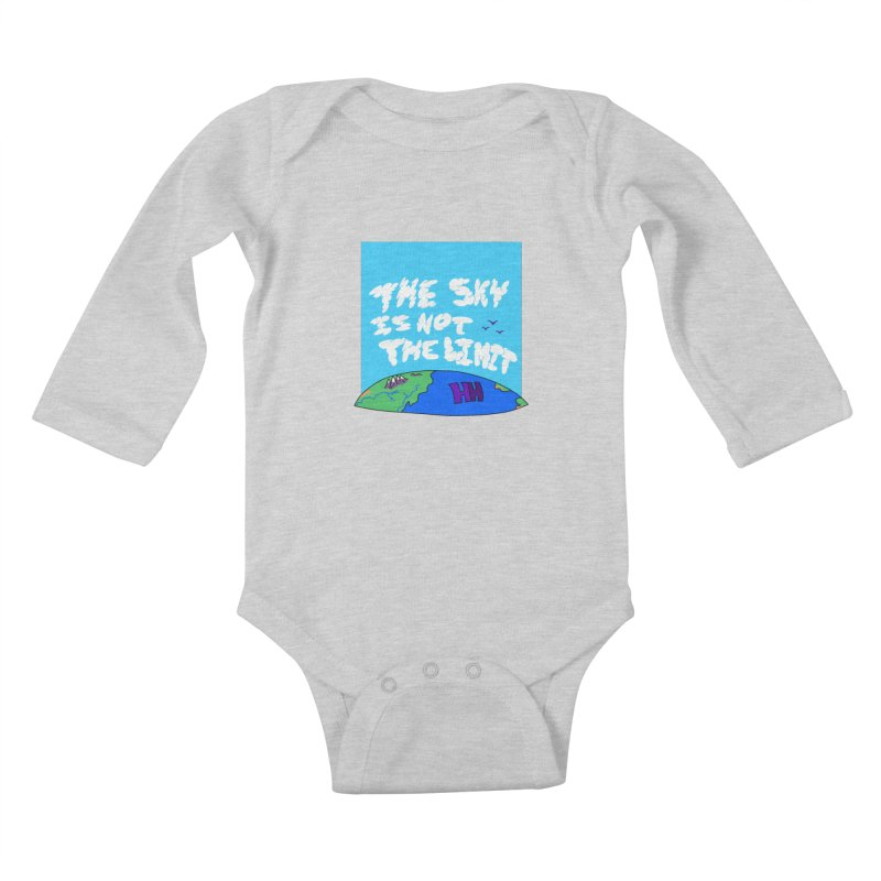 Ain't no limit boys and girls Kids Baby Longsleeve Bodysuit by happieheads's Artist Shop
