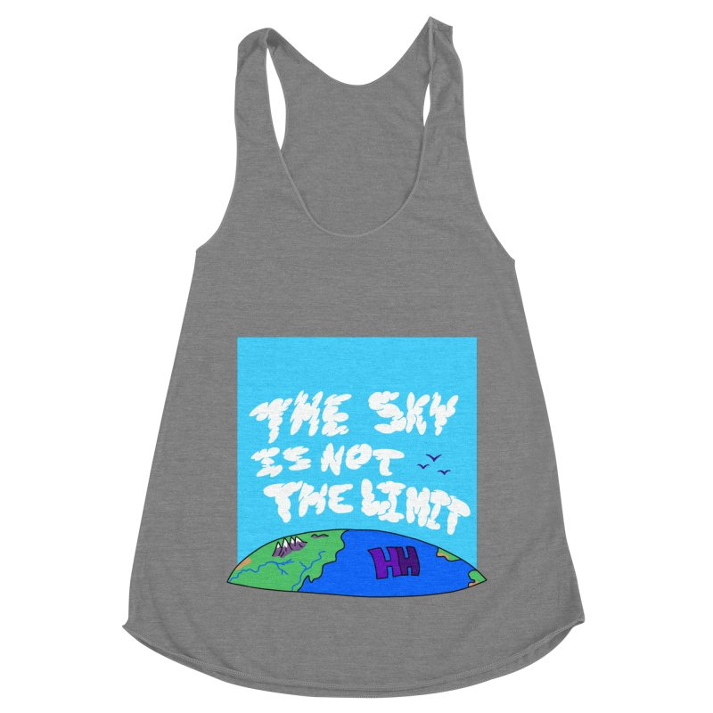 Ain't no limit boys and girls Women's Racerback Triblend Tank by happieheads's Artist Shop