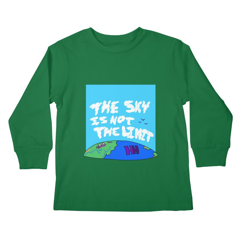 Ain't no limit boys and girls Kids Longsleeve T-Shirt by happieheads's Artist Shop