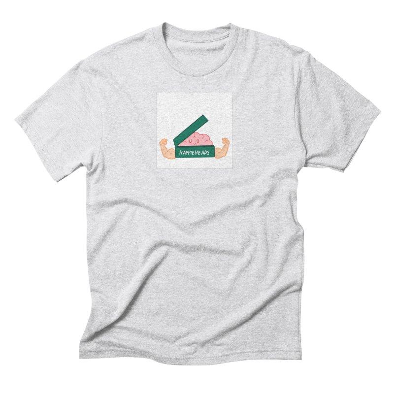 Brain Dude Flexing Men's Triblend T-Shirt by happieheads's Artist Shop