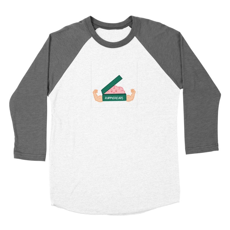 Brain Dude Flexing Women's Baseball Triblend Longsleeve T-Shirt by happieheads's Artist Shop