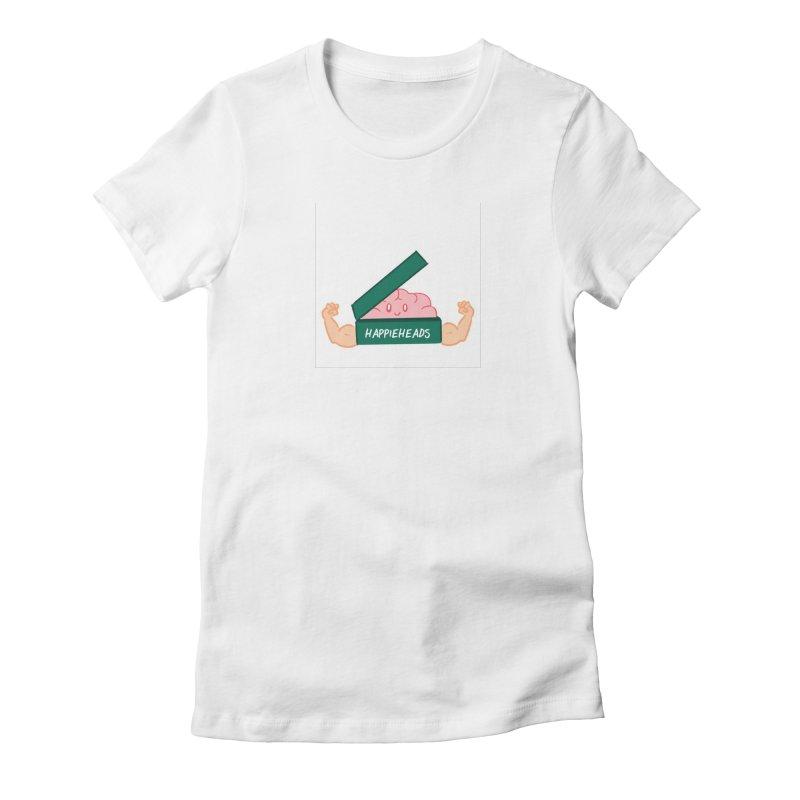 Brain Dude Flexing Women's T-Shirt by happieheads's Artist Shop