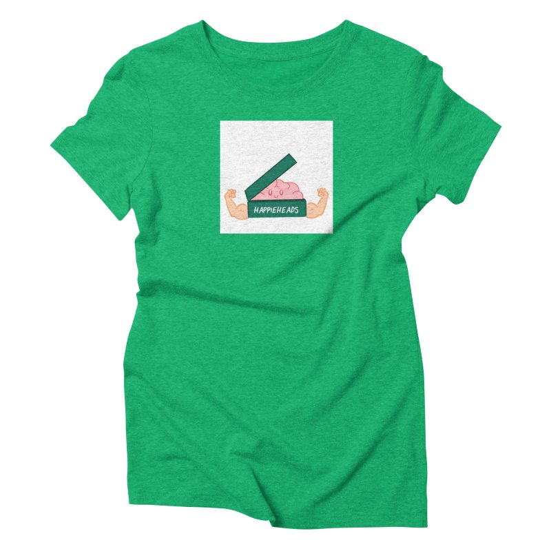 Brain Dude Flexing Women's Triblend T-Shirt by happieheads's Artist Shop