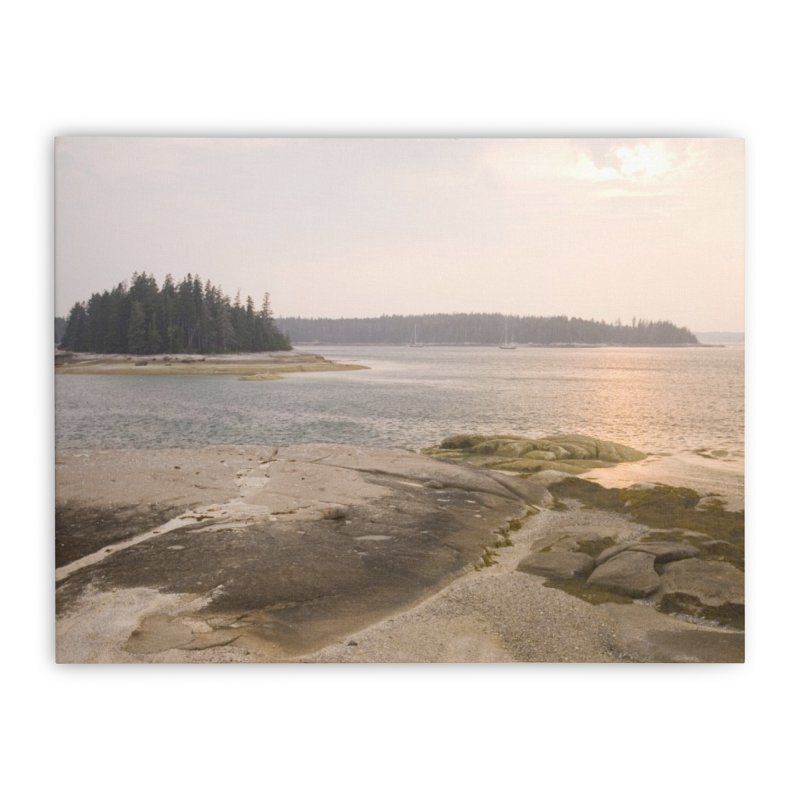 Westerly View of Summer Sunset over Hells Half Acre Home Stretched Canvas by Mish Sommers and Happier Outside