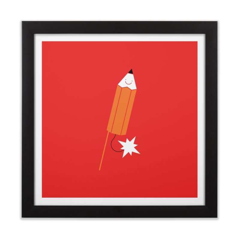 Pencil Bomb Print Home Framed Fine Art Print by HappyBombs's Artist Shop