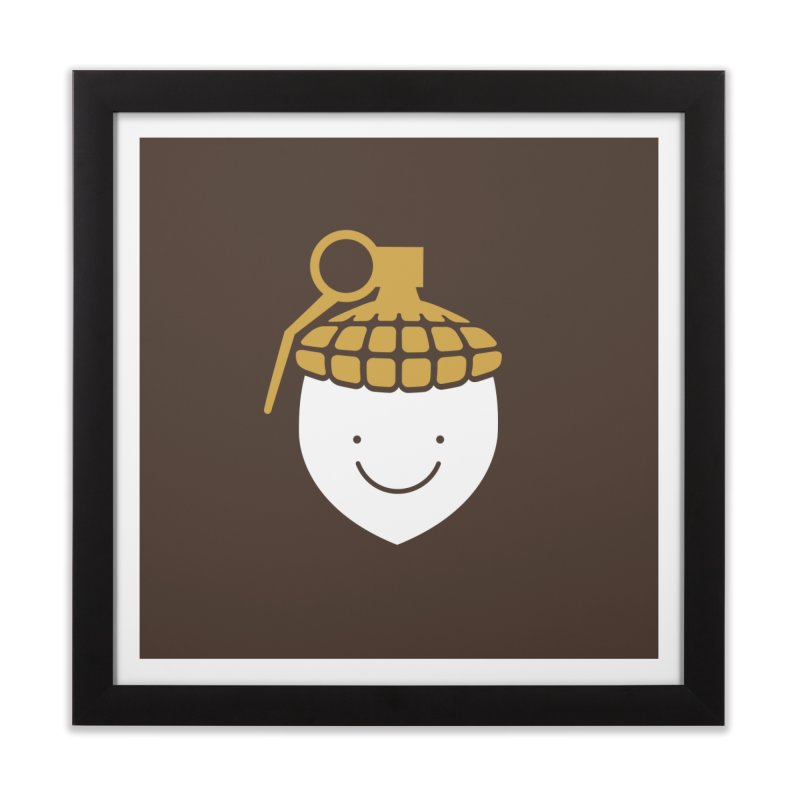 Acorn Bomb Print Home Framed Fine Art Print by HappyBombs's Artist Shop