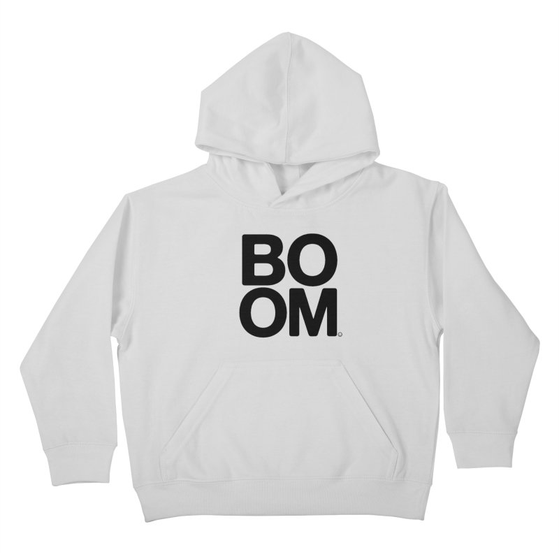 Unisex BOOM Gray Sweatshirt Kids Pullover Hoody by HappyBombs's Artist Shop
