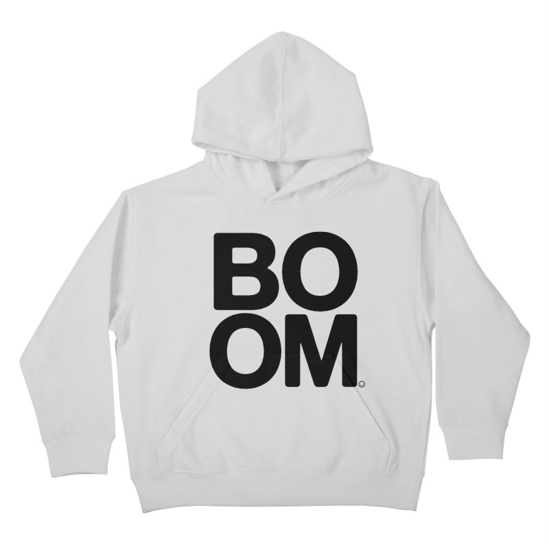 Unisex BOOM Gray Sweatshirt Kids Pullover Hoody by HappyBombs's Artist Shop