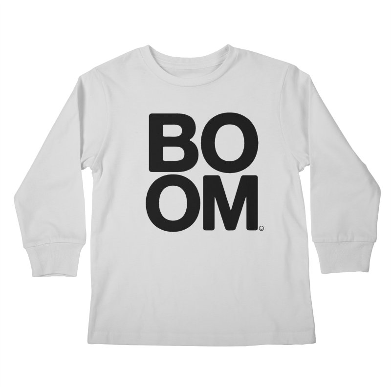 Unisex BOOM Gray Sweatshirt Kids Longsleeve T-Shirt by HappyBombs's Artist Shop