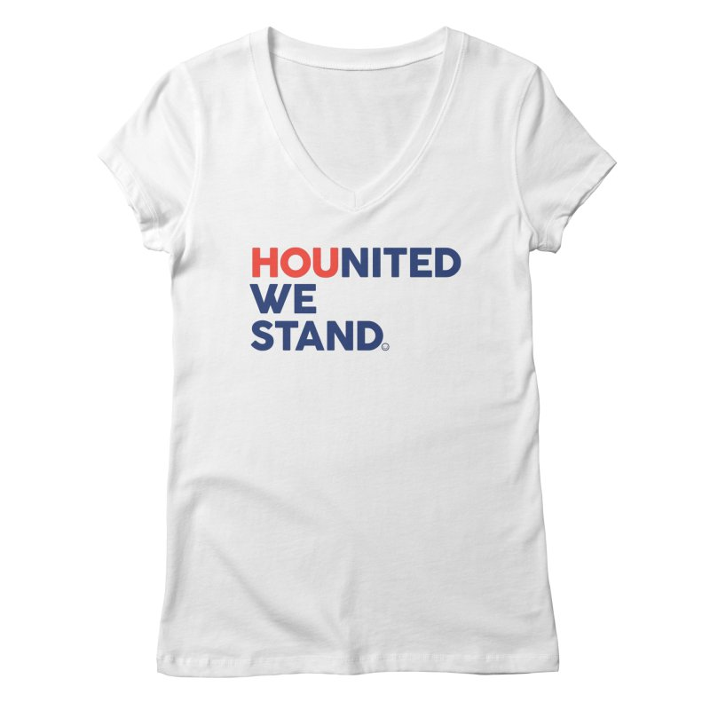 Hounited We Stand Women's V-Neck by HappyBombs's Artist Shop