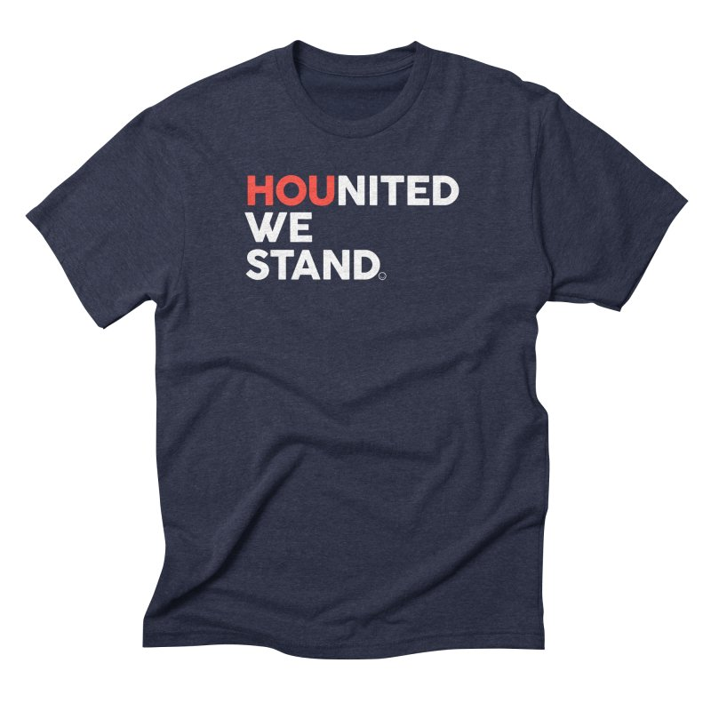Hounited We Stand - Blue Men's Triblend T-Shirt by HappyBombs's Artist Shop