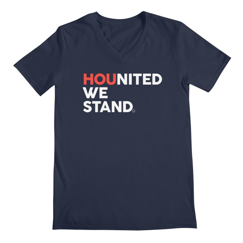 Hounited We Stand - Blue Men's V-Neck by HappyBombs's Artist Shop