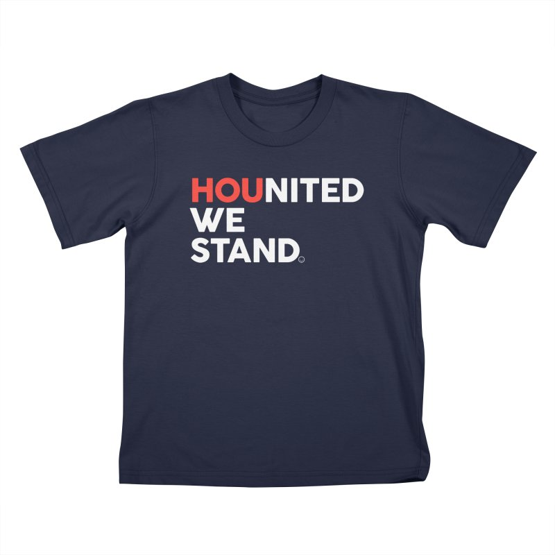 Hounited We Stand - Blue Kids T-Shirt by HappyBombs's Artist Shop