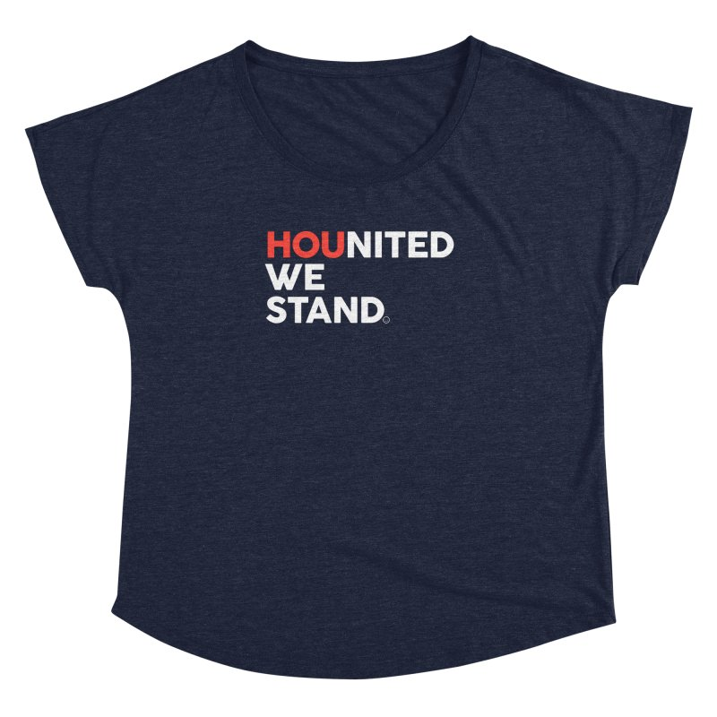 Hounited We Stand - Blue Women's Dolman by HappyBombs's Artist Shop