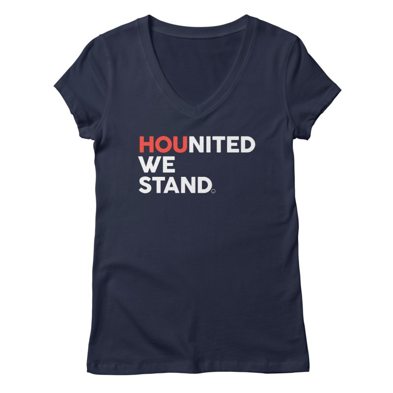 Hounited We Stand - Blue Women's V-Neck by HappyBombs's Artist Shop