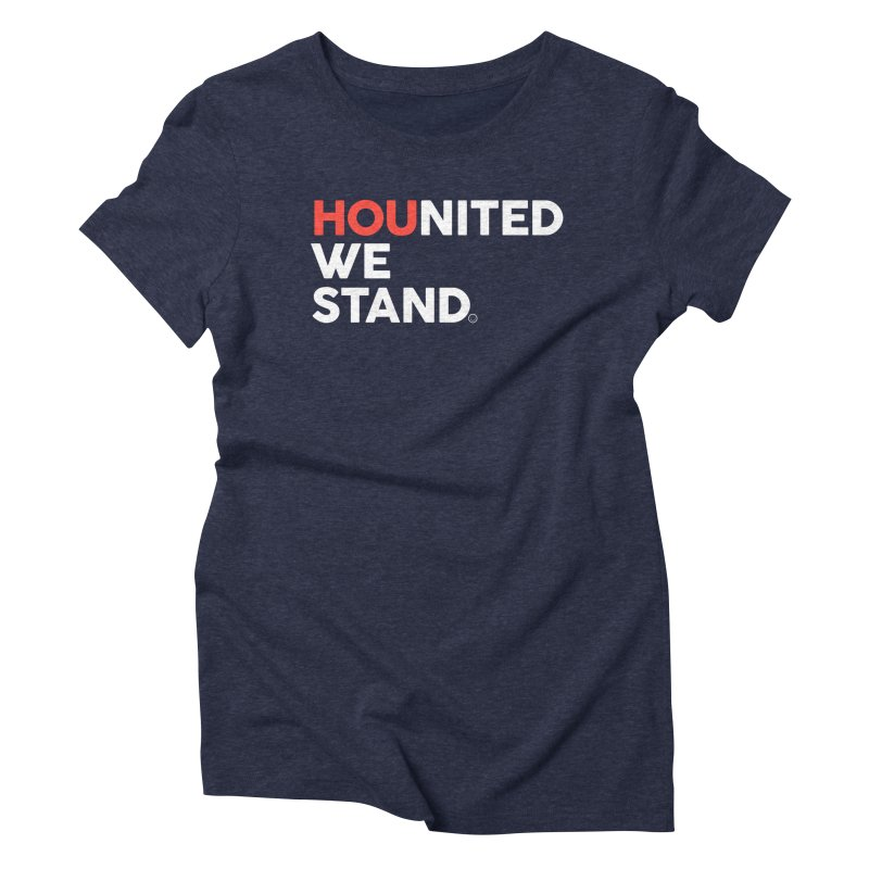 Hounited We Stand - Blue Women's Triblend T-Shirt by HappyBombs's Artist Shop