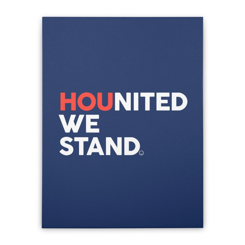 Hounited We Stand - Blue Home Stretched Canvas by HappyBombs's Artist Shop