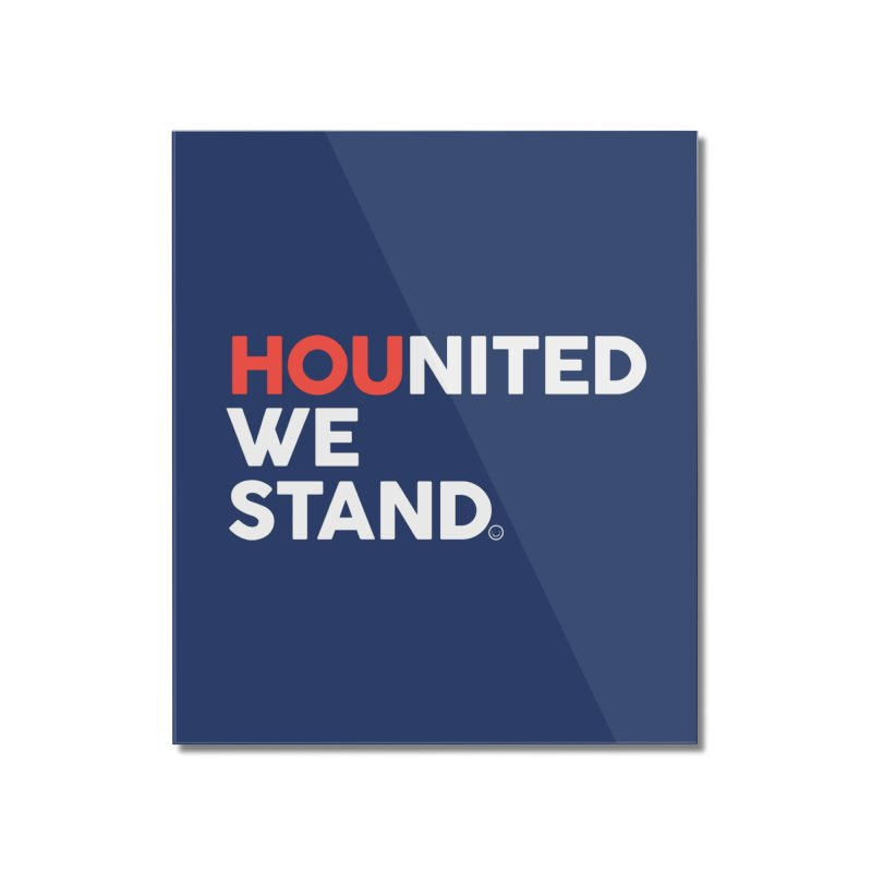 Hounited We Stand - Blue Home Mounted Acrylic Print by HappyBombs's Artist Shop