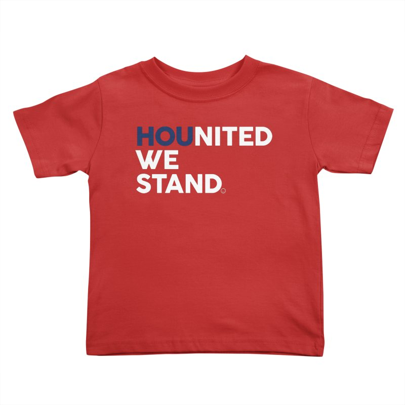 Hounited We Stand - Red  Kids Toddler T-Shirt by HappyBombs's Artist Shop