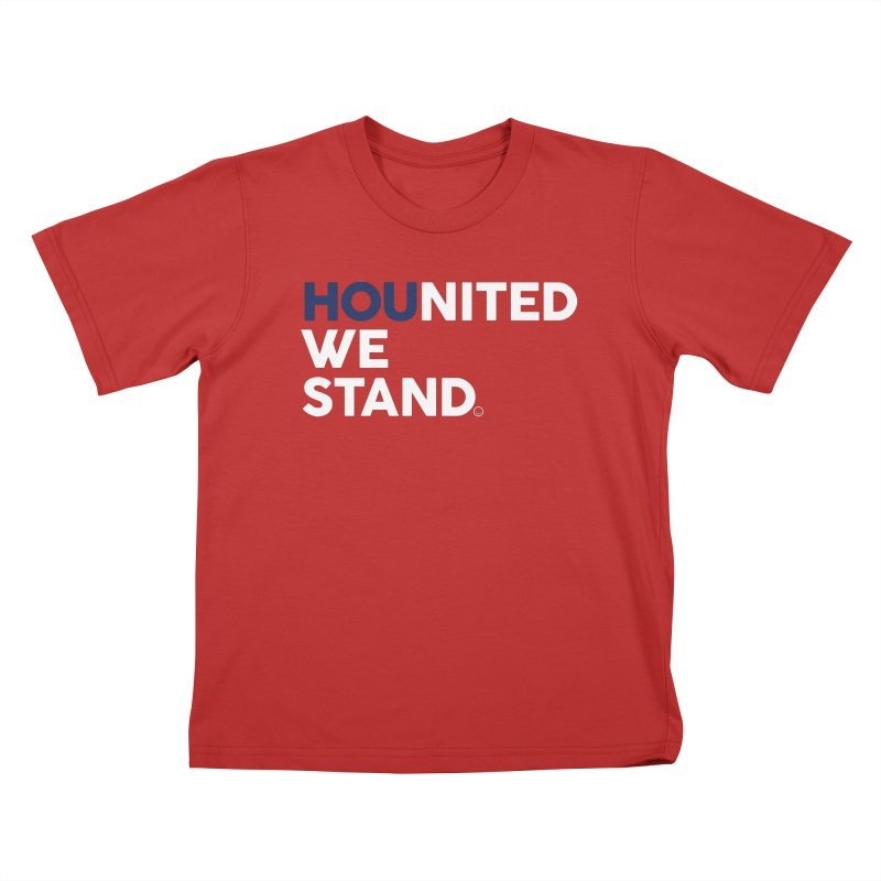 Hounited We Stand - Red  Kids T-Shirt by HappyBombs's Artist Shop