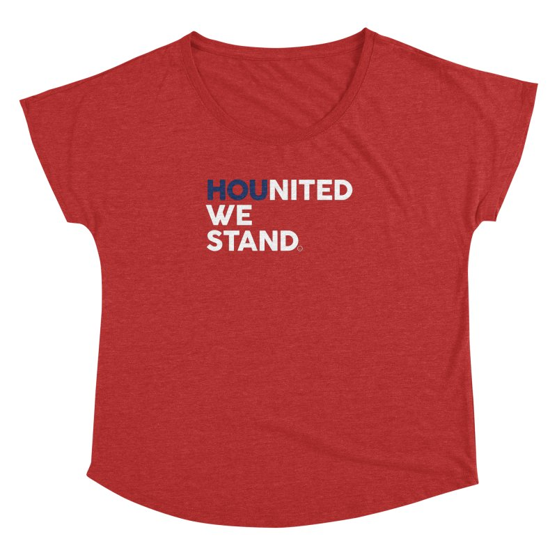 Hounited We Stand - Red  Women's Dolman by HappyBombs's Artist Shop