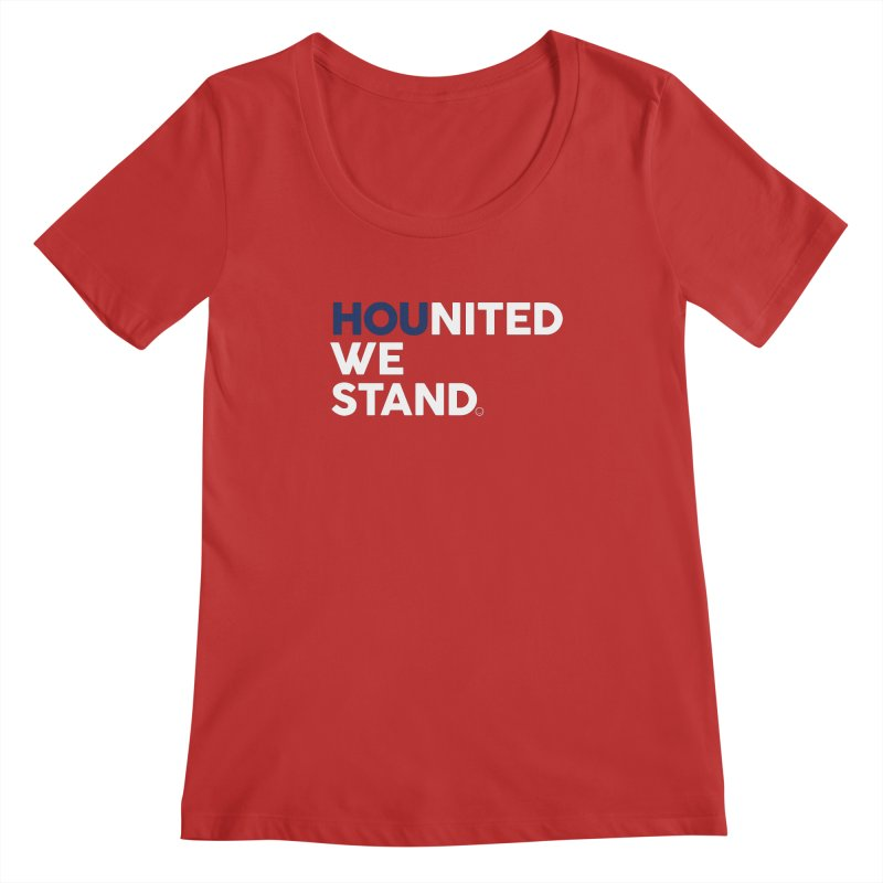 Hounited We Stand - Red  Women's Scoopneck by HappyBombs's Artist Shop