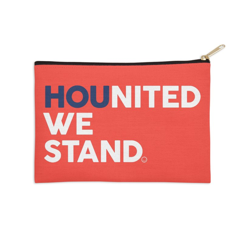 Hounited We Stand - Red  Accessories Zip Pouch by HappyBombs's Artist Shop