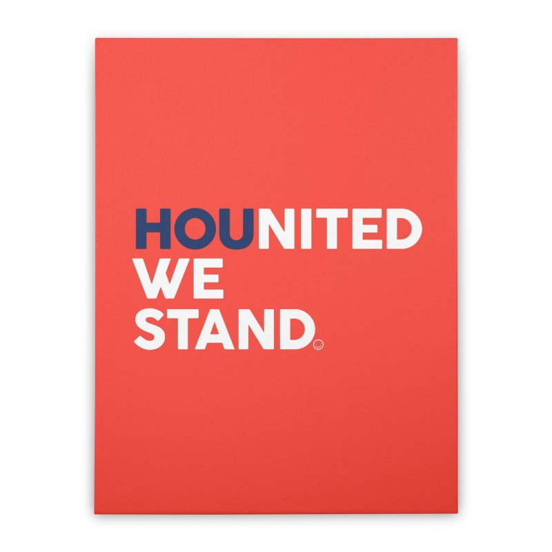 Hounited We Stand - Red  Home Stretched Canvas by HappyBombs's Artist Shop