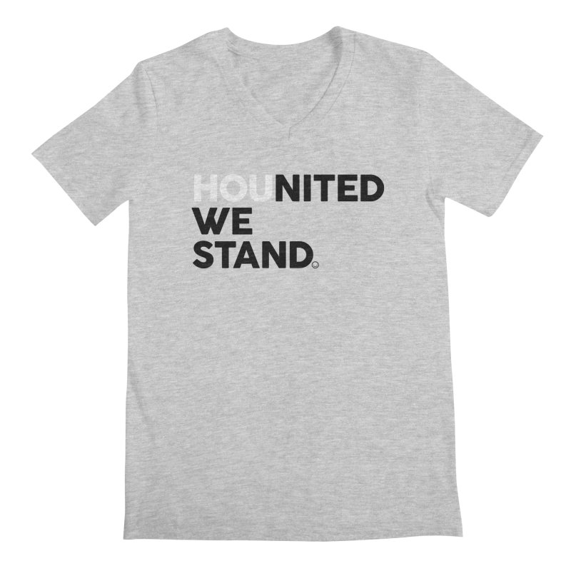 Hounited We Stand - BW Men's V-Neck by HappyBombs's Artist Shop